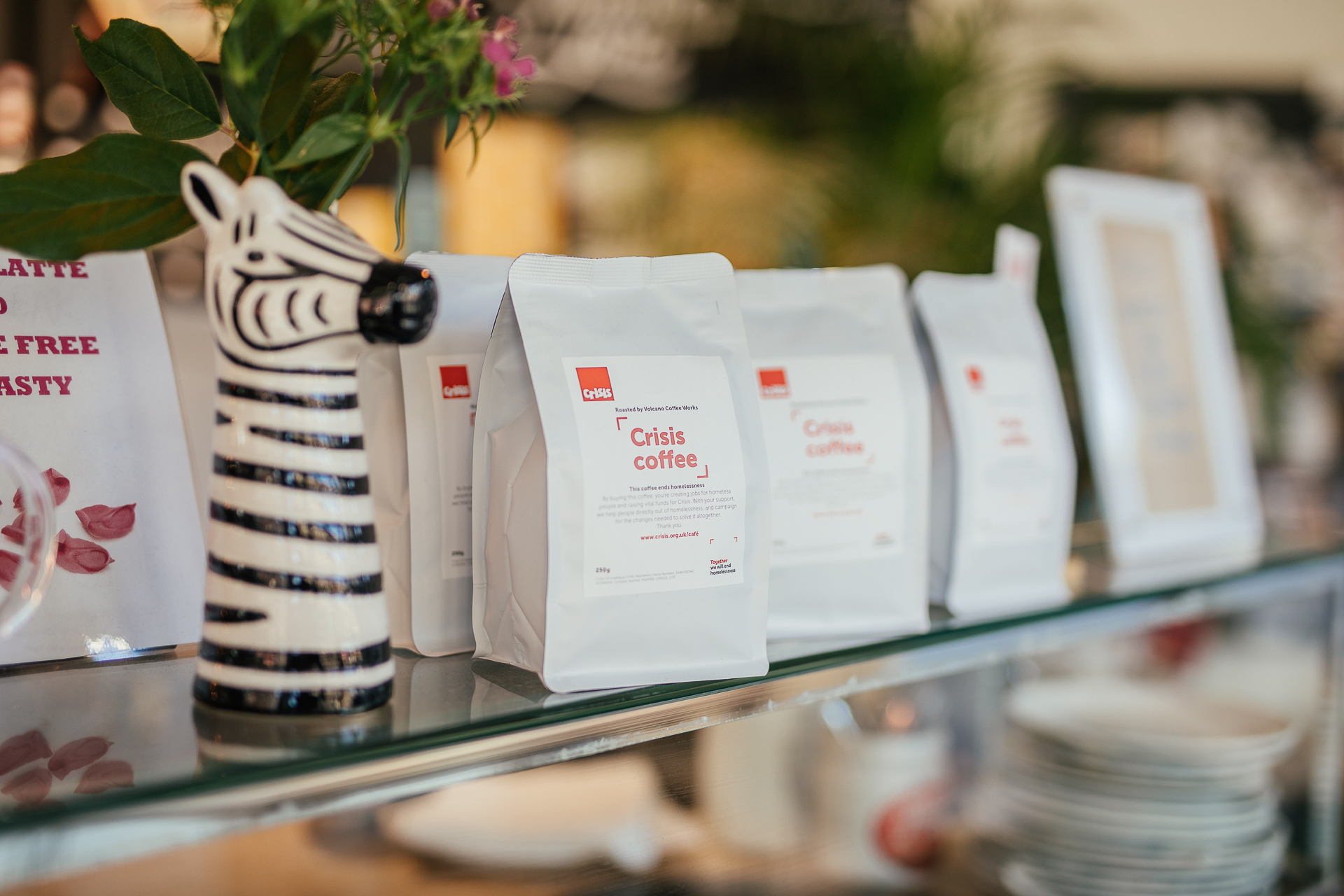 A photo of Crisis coffee sold at Crisis charity shop on Stroud Green Road.