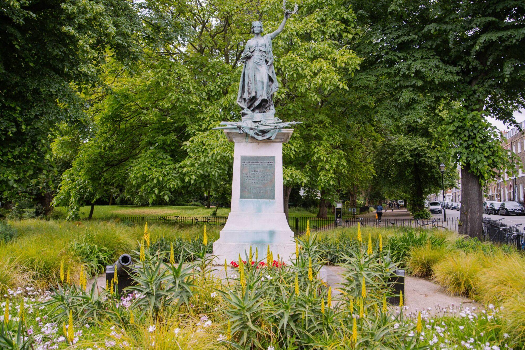 A statue in highbury park.,