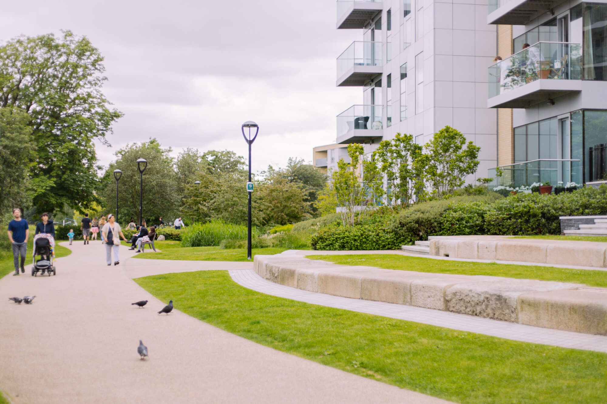 An exterior shot of modern apartments in Manor House.