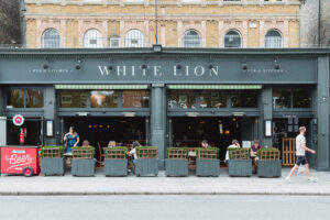 A photo of the exterior of the White Lion pub
